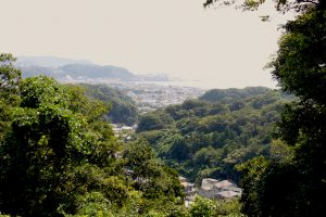 View of Kamakura from hiking trail
